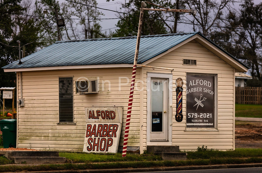 Barbers shop by the roadside on 5th March 2020 in Alford, Alabama, United States of America.