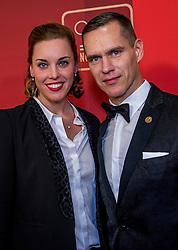21-12-2016 NED: Sportgala NOC * NSF 2016, Amsterdam<br /> In de Amsterdamse RAI vindt het traditionele NOC NSF Sportgala weer plaats / Femke Heemskerk met partner Johan Kenkhuis