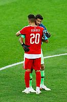 Becker Alisson (Brazil) and Sergej Milinkovic-Savic (Serbia) <br /> Moscow 27-06-2018 Football FIFA World Cup Russia  2018 <br /> Serbia - Brazil / Serbia - Brasile<br /> Foto Matteo Ciambelli/Insidefoto