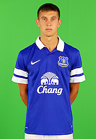 Everton's John Stones during the BT and Sky Filming at Finch Farm.