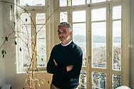 Yiğit Aksakoğlu, the Turkey representative for the Bernard van Leer Foundation, in his offices near Taksim square and Gezi park, central Istanbul, Turkey.