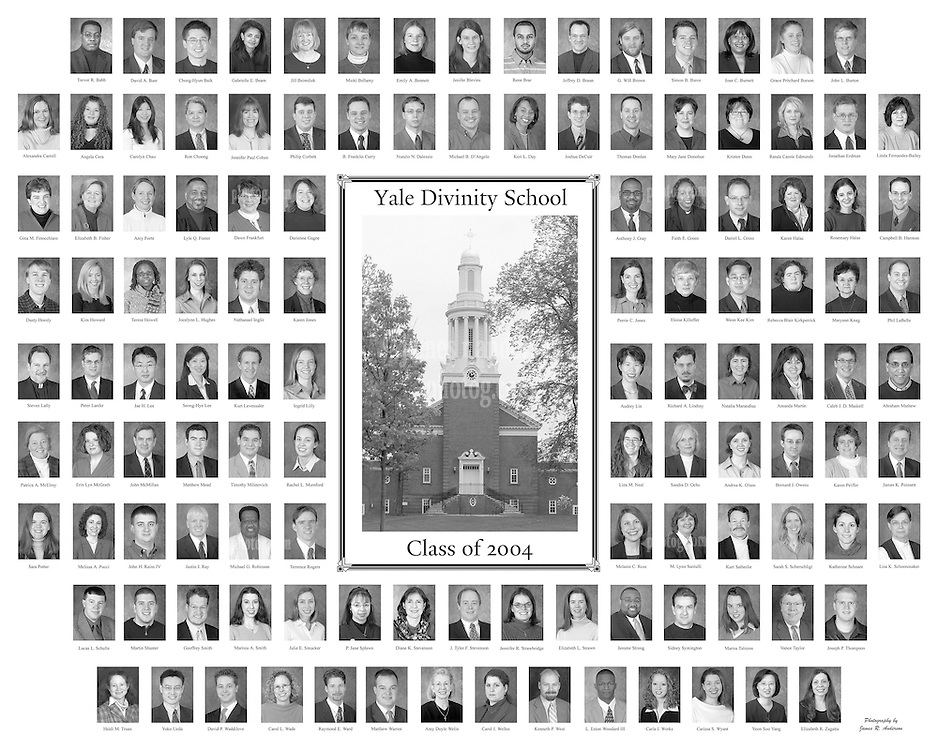 2004 Yale Divinity School Senior Portraits Composite Photograph