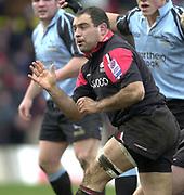 Watford, GREAT BRITAIN, 22nd Feburary 2004, Vicarage Road, ENGLAND. [Mandatory Credit: Photo  Peter Spurrier/Intersport Images],<br /> 22/02/2004  -  Zurich Premiership, Saracens v Newcastle Falcons<br /> Raphael Ibanez