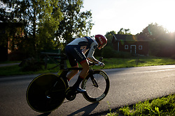 Cecilie Uttrup Ludwig at the Crescent Vargarda - a 42.5 km team time trial, starting and finishing in Vargarda on August 11, 2017, in Vastra Gotaland, Sweden. (Photo by Sean Robinson/Velofocus.com)