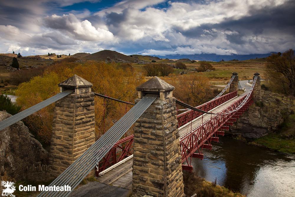 Bridge between Lauder and Ophir, Otago, New Zealand