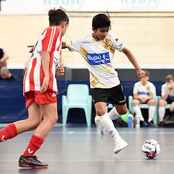 BRISBANE, AUSTRALIA - NOVEMBER 14:  during the QLD Futsal Junior Superliga match between Elitefoot u11 White and u11 Bulimba FC at Anna Meares Velodrome on November 14, 2020 in Brisbane, Australia. (Photo by Patrick Kearney)