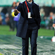Bursaspor's coach Ertugrul SAGLAM during their Turkish soccer super league match Bursaspor between Galatasaray at Ataturk Stadium in Bursa Turkey on Saturday, 29 January 2011. Photo by TURKPIX