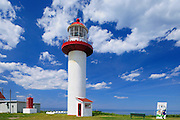 lighthouse on Gulf of St. Lawrence<br /> Cap Madeleine<br /> Quebec<br /> Canada