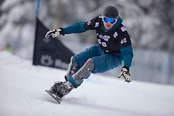 Endre Papp (HUN) during Final Run at Parallel Giant Slalom at FIS Snowboard World Cup Rogla 2019, on January 19, 2019 at Course Jasa, Rogla, Slovenia. Photo byJurij Vodusek / Sportida