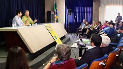 José Fortunati durante apresentação de propostas na Plenária do Fórum Municipal dos Direitos da Criança e do Adolescente. FOTO: Jefferson Bernardes/Preview.com