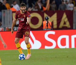 October 2, 2018 - Rome, Italy - Federico Fazio during the UEFA Champions League match group G between AS Roma and Viktoria Plzen at the Olympic stadium on october 02, 2018 in Rome, Italy. (Credit Image: © Silvia Lore/NurPhoto/ZUMA Press)