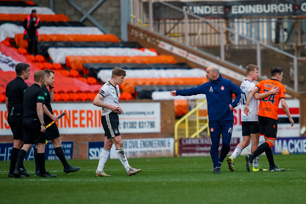 DUNDEE, SCOTLAND, MARCH 20, 2020:  Dundee Utd V Aberdeen FC Ladbrokes SPFL Premiership fixture at Tannadice Park, Dundee.<br /> <br /> Pictured: <br /> <br /> <br /> (Photo: Newsline Media)