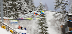 30.12.2011, Schattenbergschanze / Erdinger Arena, GER, Vierschanzentournee, FIS Weldcup, Probedurchgang, Ski Springen, im Bild Jernej Damjan (SLO) // Jernej Damjan of Slovenia  during the trial round at 60th Four-Hills-Tournament, FIS World Cup in Oberstdorf, Germany on 2011/12/30. EXPA Pictures © 2011, PhotoCredit: EXPA/ P.Rinderer