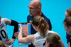 Coach Marko Klok of Netherlands in action during United States - Netherlands, FIVB U20 Women's World Championship on July 15, 2021 in Rotterdam