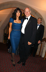 Musician DAVID GILMOUR and his wife POLLY SAMPSON at a dinner to announce the 2005 Man Booker Prize held at The Guilhall, City of London on 10th October 2005.<br /><br />NON EXCLUSIVE - WORLD RIGHTS
