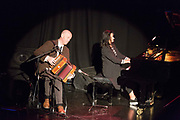 """**NO REPRO FEE** Conor Keane and Anne Larkin performing at the """"G'wan the town"""" concert in Glor on Tuesday night at the Fleadh in Ennis. Photograph by Eamon Ward"""