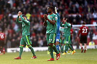 Football - 2018 / 2019 Premier League - Manchester United vs. Watford<br /> <br /> Miguel Angel Britos and Christian Kabasele of Watford applaud their travelling support at the final whistle, at Old Trafford.<br /> COLORSPORT/ALAN MARTIN