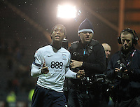 Preston North End's Daniel Johnson celebrates as the game ends chased by TV crews<br /> <br /> Photographer Mick Walker/CameraSport<br /> <br /> The EFL Sky Bet Championship - Preston North End v Blackburn Rovers  - Saturday 10th December 2016 - Deepdale - Preston<br /> <br /> World Copyright © 2016 CameraSport. All rights reserved. 43 Linden Ave. Countesthorpe. Leicester. England. LE8 5PG - Tel: +44 (0) 116 277 4147 - admin@camerasport.com - www.camerasport.com