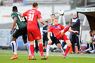 York City's Luke Hendrie during the Sky Bet League 2 match between Plymouth Argyle and York City at Home Park, Plymouth, England on 28 March 2016. Photo by Graham Hunt.