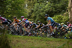 Peloton stream by at Grand Prix de Plouay Lorient Agglomération a 121.5 km road race in Plouay, France on August 26, 2017. (Photo by Sean Robinson/Velofocus)