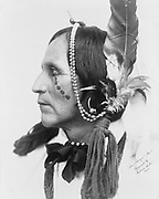 San Diago, Native American, head-and-shoulders portrait, 1905. Photograph by the Gerhard Sisters, Mamie and Emma.