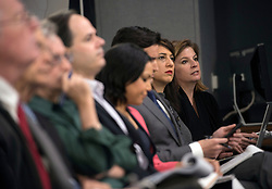April 14, 2018 - Washington, District of Columbia, U.S. - Press questions. The assistant to the secretary of defense for public affairs, and the Joint Staff director, brief the press regarding American operations in Syrian at the Pentagon in Washington. (Credit Image: ? USAF/ZUMA Wire/ZUMAPRESS.com)