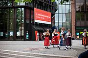 "Woman in traditional Sudeten Germans dresses during the 71st Sudeten German meeting at the ""Philharmonie im Gasteig"" in Munich."