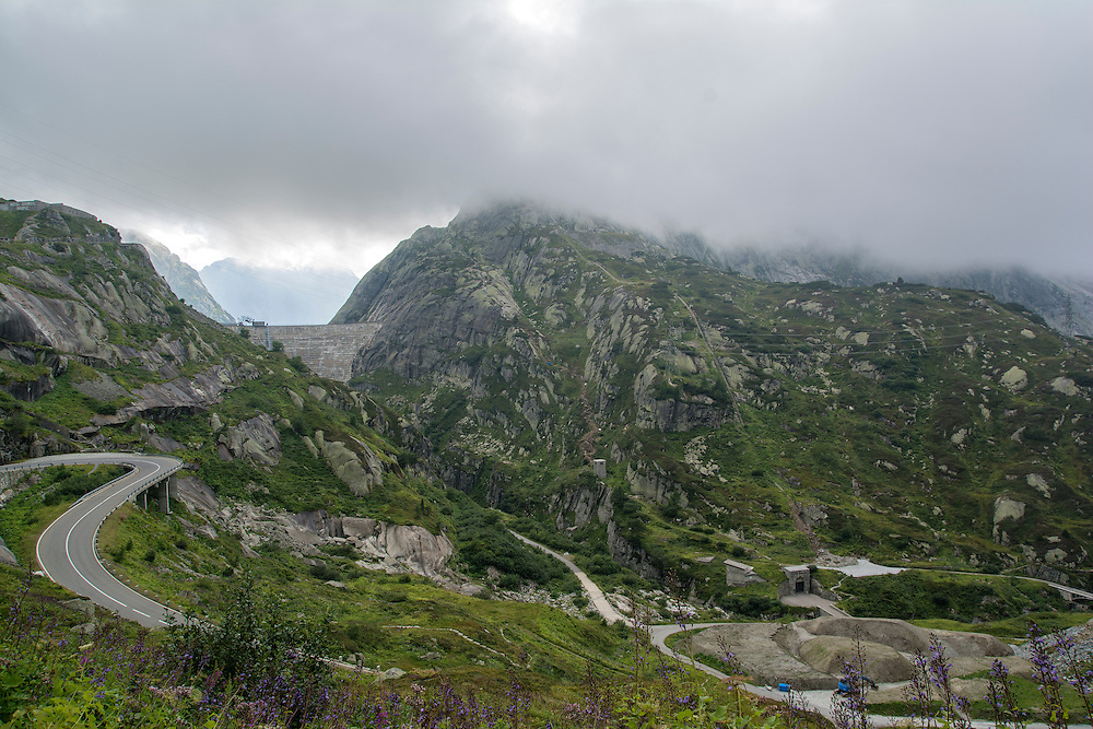 The Grimsel Pass in the Swiss Alps.