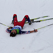 Winter Olympics, Vancouver, 2010.Andrew Young, Great Britain, after the Men's 15km Cross Country Skiing event at The Whistler Olympic Park, Whistler, during the Vancouver Winter Olympics. 14th February 2010. Photo Tim Clayton