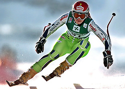 SKI ALPIN: Alpine Ski-WM 2005, Damen, Abfahrt, Training, Bormio, 30.01.2005<br />Tina MAZE (SLO)<br />© pixathlon<br />AUSTRIA OUT!