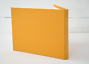 Hand sewn artist book, pearl stitch, hard cover, 28 pages, edition of 10, 2020, Back Cover