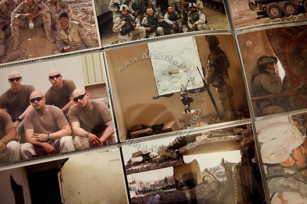 Memories and personal pictures are part of the album the wife of Benjamin Tippetts, 27, prepared for him after he left the Army, in their home in La Crosse, WI, USA. He now works as a freelance financial advisor and lives with his wife and newborn daughter. Benjamin has been an Army infantryman in Fallujah, fighting in the 2nd battle in 2004.