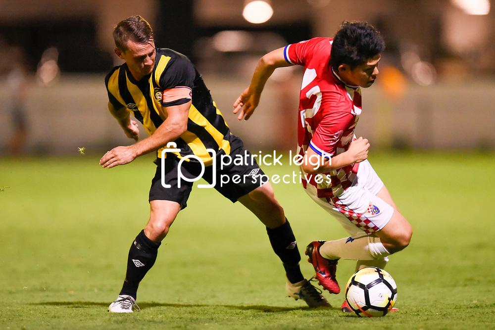 BRISBANE, AUSTRALIA - JANUARY 9:  during the Kappa Silver Boot Group B match between Gold Coast Knights and Wolves FC on January 9, 2018 in Brisbane, Australia. (Photo by Patrick Kearney)