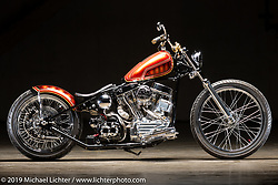 Grace, a 1953 Harley-Davidson Pan-Shovel built by Providence Cycle Worx' Xavier Muriel of Texas. The Handbuilt Show, Austin, TX. Thursday, April 11, 2019. Photography ©2019 Michael Lichter.