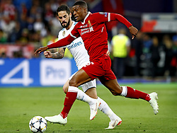 (L-R) Isco of Real Madrid CF, Giorginio Wijnaldum of Liverpool FC during the UEFA Champions League final between Real Madrid and Liverpool on May 26, 2018 at NSC Olimpiyskiy Stadium in Kyiv, Ukraine