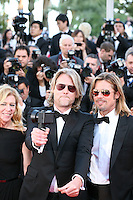 Director Andrew Dominik taking a 360 degree photograph with a spinner camera of the press  photographers and Actor Brad Pitt  at the Killing Them Softly gala screening at the 65th Cannes Film Festival France. Tuesday 22nd May 2012 in Cannes Film Festival, France.