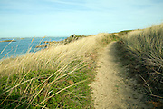 Sandy track footpath Island of Herm, Channel Islands, Great Britain