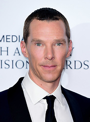 Benedict Cumberbatch in the press room after winning the award for Best Mini-Series at the Virgin Media BAFTA TV awards, held at the Royal Festival Hall in London.