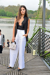 DOINA CIOBANU at a party to launch the Taylor Morris Explorer Collection held at the Serpentine Lido, Hyde Park, London on 11th May 2016.