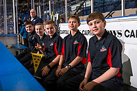 KELOWNA, BC - DECEMBER 18: Power Rangers sit on the bench at Prospera Place on December 18, 2018 in Kelowna, Canada. (Photo by Marissa Baecker/Getty Images)***Local Caption***