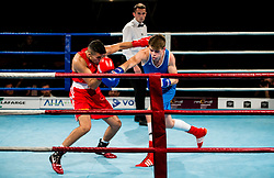 Jan Sekol  of Slovenia (BLUE) fights against Suleiman Taher of Austria (RED) in Elite 75 kg Category<br />  during Dejan Zavec Boxing Gala event in Sentilj, on September 30, 2017 in Mond, Casino & Hotel, Sentilj, Slovenia. Photo by Vid Ponikvar / Sportida