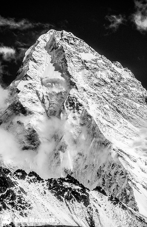 North face of K2 from the K2 glacier, 2nd highest mountain on Earth, Karakoram, Xinjiang, China