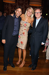 Left to right, actor DOUGRAY SCOTT , CLARE STAPLES and actor BILL NIGHY at a party to celebrate the publication of 'Everything I Know About Men I Learnt From My Dog' by Clare Staples held at Fifty, St.James's, London on 7th September 2005.<br /><br />NON EXCLUSIVE - WORLD RIGHTS