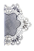 decorative doily made from lace partly folded