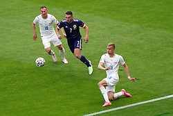 Czech Republic's Tomas Soucek clears the ball as Scotland's John McGinn closes him down during the UEFA Euro 2020 Group D match at Hampden Park, Glasgow. Picture date: Monday June 14, 2021.