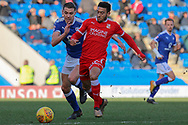 Swindon Town forward Keshi Anderson on the attack during the EFL Sky Bet League 2 match between Chesterfield and Swindon Town at the Proact stadium, Chesterfield, England on 24 February 2018. Picture by Aaron  Lupton.