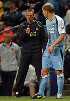 Photo: Paul Thomas.<br /> Manchester City v Watford. The Barclays Premiership. 04/12/2006.<br /> <br /> Stuart Pearce, manager of Man City gives it the thumbs up.