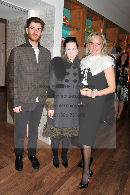 A dinner hosted by Ruinart Champagne in honour of David Linley was held at Linley, 60 Pimlico Road, London SW1 on 8th December 2011.<br /> Left to right, RODOLPHE & LADY FRANCES VON HOFMANSTHAL and ELIZABETH LOUIS.