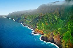 Hanakoa Valley, Na Pali coast, Kauai, Hawaii, Pacific Ocean