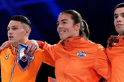 17-11-2019 NED: World Port Boxing Netherlands - Kazakhstan, Rotterdam<br /> 3rd World Port Boxing in Excelsior Stadion Rotterdam / Sammy Wagensveld (NED), Nouchka Fontijn (NED)